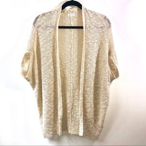 Silence + Noise Cream Sweater Knit Open Cardi